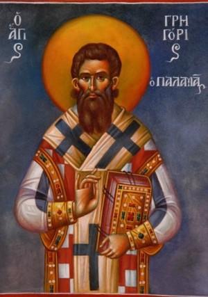 Fresco ortodoxo griego del Santo.