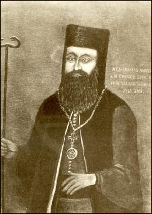 Lienzo-retrato de Atanasio Anghel, metropolita rumano y primer obispo de la Iglesia Uniata.