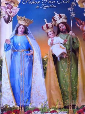 Imágenes de San José y la Virgen del Rosario veneradas en Zapotlán, México. Año 2009.