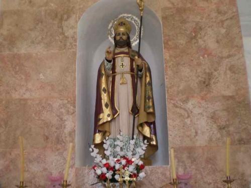 Imagen de San Indalecio venerada en Pechina, Almería (España).