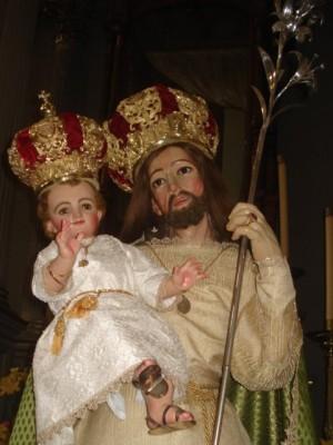 Vista de la imagen de San José venerada en Zapotlán (México).