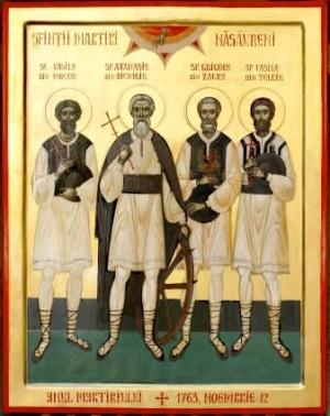 Icono ortodoxo rumano de los mártire de Nasaud.