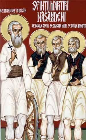 Fresco ortodoxo rumano de los mártires de Nasaud.