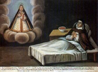 Lienzo del Venerable en su lecho de enfermo. Fotografía: Pedro Huerta.