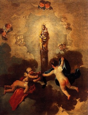 Virgen del Pilar, Francisco de Goya. Museo de Zargoza, España.
