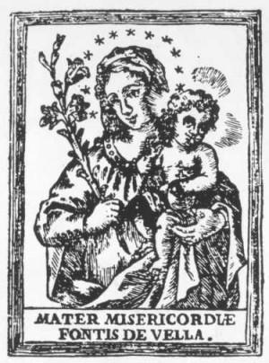Grabado de la Virgen de la Misericordia de Catí.