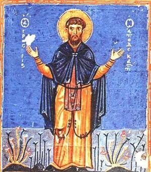 Icono griego del Santo.