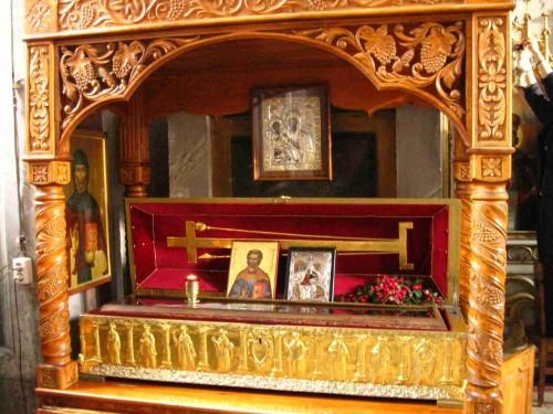 Sepulcro del Santo. Monasterio Bistrita, Rumanía.