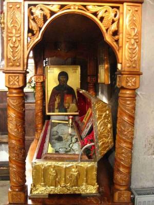 Detalle del sepulcro del Santo. Monasterio Bistrita, Rumanía.