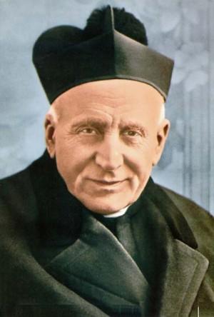 El Beato en una fotografía coloreada usada como estampa para su beatificación.