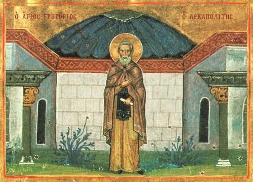 Iluminación del Santo en el Menologio de Basilio II (s.X). Biblioteca Apostolica Vaticana, Roma (Italia).