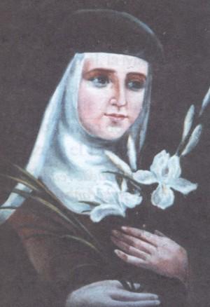 Beata María de Jesús (Vicenta Jordà Martí). Pintura de sor Natividad Dávoli basándose en la fotografía de la mártir.