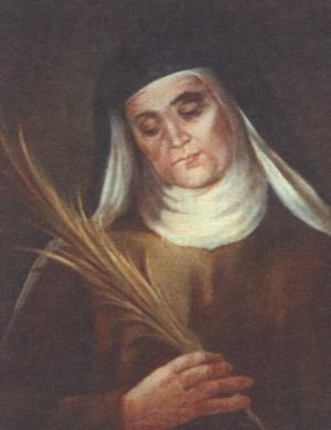 Beata María de la Asunción (Dolores Vilaseca Gallego).  Pintura de sor Natividad Dávoli basándose en la fotografía de la mártir.