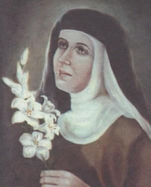Beata María de las Mercedes (Mercè Mestre Trinché).  Pintura de sor Natividad Dávoli basándose en la fotografía de la mártir.