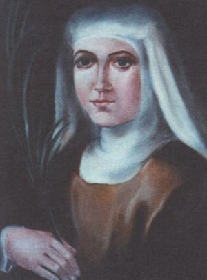 Beata María de San Enrique (María Ors Molist). Pintura de sor Natividad Dávoli basándose en la fotografía de la mártir.