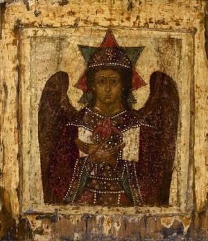 Icono bizantino de la Divina Sabiduría (Santa Sofía).