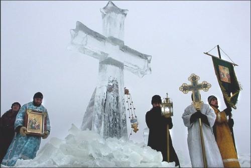 Celebración de la Teofanía en la isla Sviyazhsk en Tatarstan.