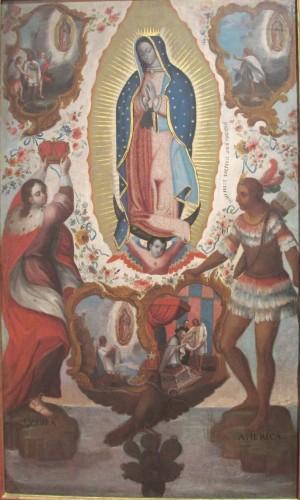 Nuestra Señora de Guadalupe patrona de la Nueva España, anónimo novohispano.