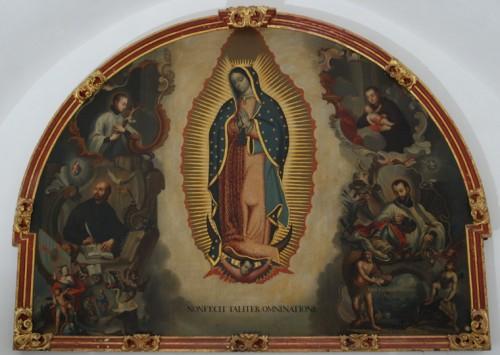 Nuestra Señora de Guadalupe y los santos jesuitas, anónimo novohispano.