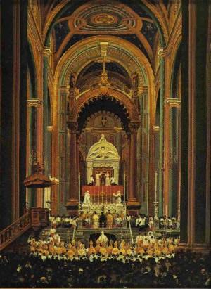 Ceremonia de la coronación pontificia de Nuestra Señora de Guadalupe el 12 de octubre de 1895.
