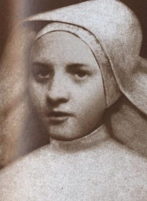 Estampa de la Beata Dolores Barroso inspirada en una fotografía original.