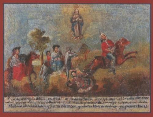 Exvoto novohispano a la Virgen de los Remedios, Museo Regional INAH, Cdad. de Puebla, Puebla (México).