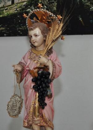 Fotografía actual de la venerada imagen del Limosnerito.