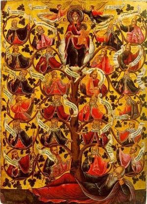Icono bizantino que representa el Árbol de Jesé.