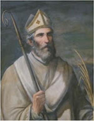 Lienzo de San Geroncio de Itálica, obispo mártir.
