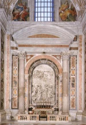 Capilla-sepulcro del Santo en la Basílica de San Pedro del Vaticano, Roma (Italia).