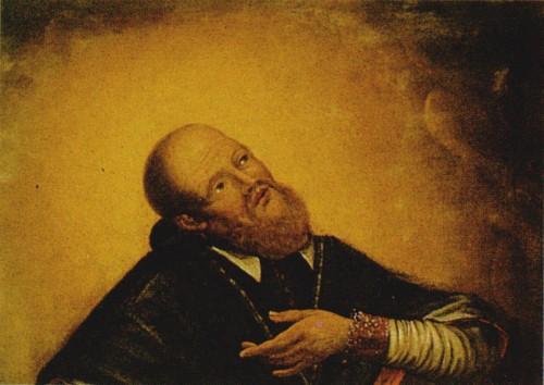 Detalle del Santo en un lienzo de autor anónimo (1677).