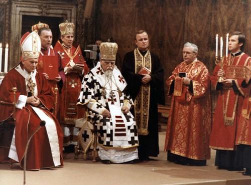 Junto al Papa San Juan Pablo II.