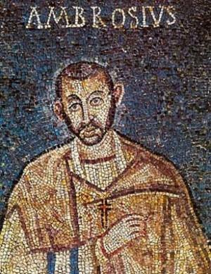 Mosaico paleocristiano de San Ambrosio de Milán.