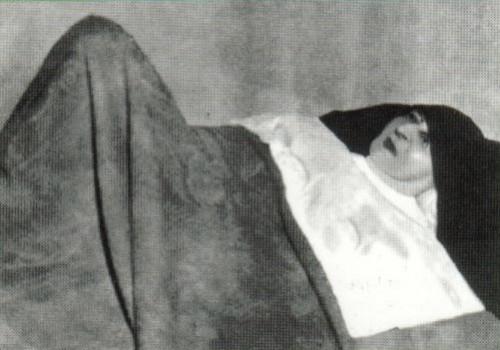 Fotografía de la Sierva de Dios María Antonia Samà en su lecho de paralítica.