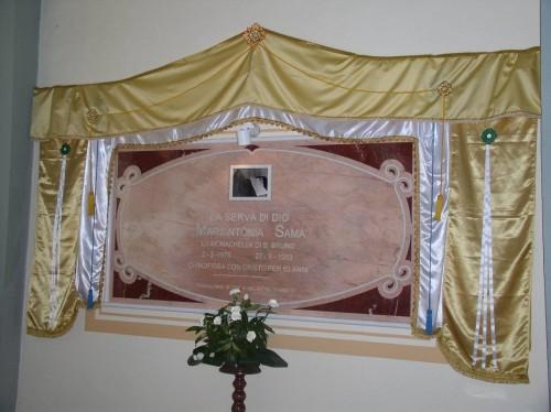 Sepulcro de la Sierva de Dios María Antonia Samà.