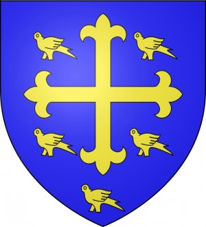 Vista del escudo real del Santo.