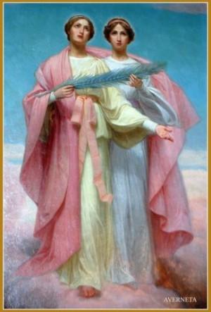 Pintura decimonónica de las Santas. Fuente: Averneta.
