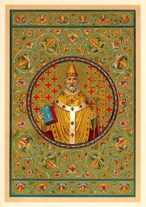 """Ilustración decimonónica del Santo en el libro """"The Lives of the Saints"""" del rv. Alban Butler."""