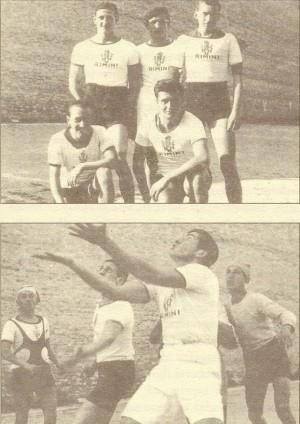 El Beato practicando deporte junto con sus amigos.