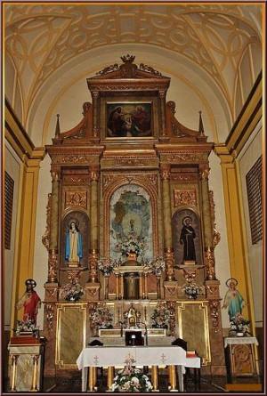 Retablo mayor de la Iglesia-convento del Carmen, Guadalajara (España).
