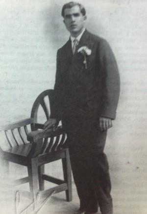Fotografía de su juventud.
