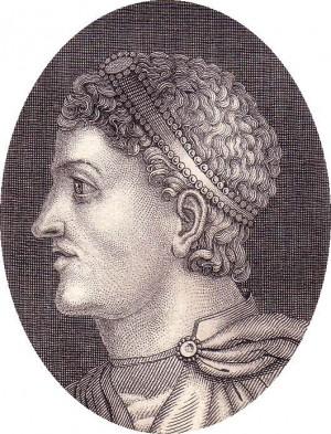 Grabado del emperador Teodosio el Grande.