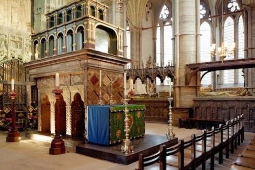 Vista del sepulcro del Santo en la abadía de Westminster, Londres (Reino Unido).
