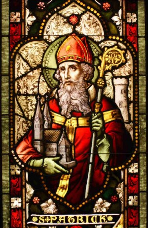 Vidriera del Santo. Catedral del Cristo de la Luz, Oakland, California (EEUU).