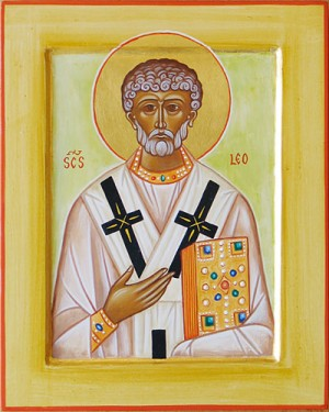 Icono latino del Santo.