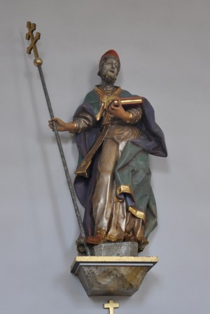 Escultura del Santo en la parroquia de Schnetzenhausen (Alemania).