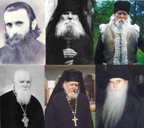 Collage con los padres espirituales rumanos.
