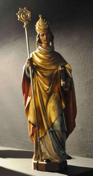 Escultura del Santo, obra de Theodor Schnell. Iglesia de la Virgen de Ravensburg, Alemania.