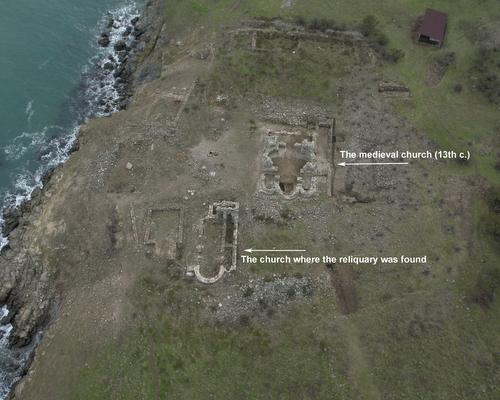 Lugar de las excavaciones en Sveti Ivan, Sozopol (Bulgaria).