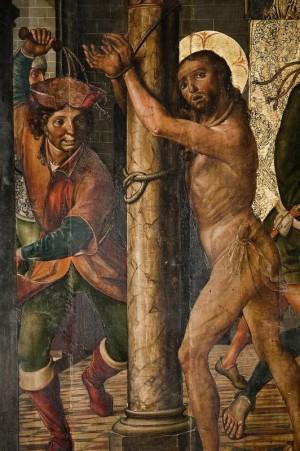 La flagelación. Tabla gótica de Pedro de Berruguete (1503).